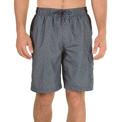Speedo Mens Sport Colorblocked Heather Volley Shorts