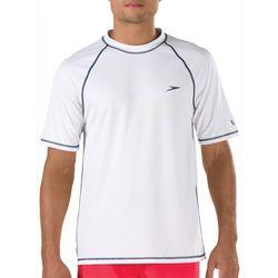 Speedo Mens Easy Solid Short Sleeve Swim Shirt