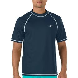 Speedo Mens Easy Solid Short Sleeve Swim Shirt
