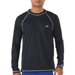 Speedo Mens Easy Solid Long Sleeve Swim Shirt