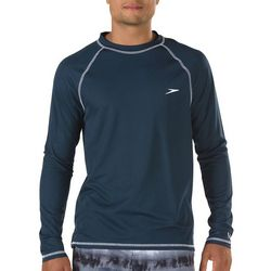 Speedo Mens Easy Solid Long Sleeve Swim Shirt