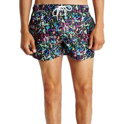 2xist Mens Ibiza Paint Splatter Swim Shorts