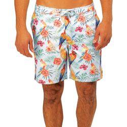 Caribbean Joe Mens Tropical Eboard Swim Trunks