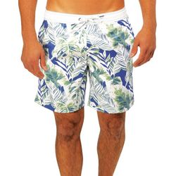 Caribbean Joe Mens Tropic Eboard Swim Trunks
