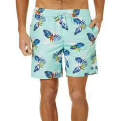 Caribbean Joe Mens Birds of Paradise Volley Swim