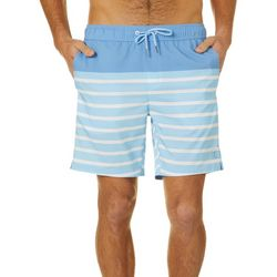 PGA TOUR Mens Striped Volley Swim Trunks