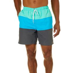 Boca Classics Mens Colorblock Pocket Swim Trunks