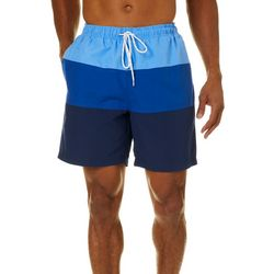 Boca Classics Mens Ombre Colorblock Swim Trunks