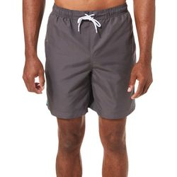 Boca Classics Mens Palm Print Panel Swim Trunks