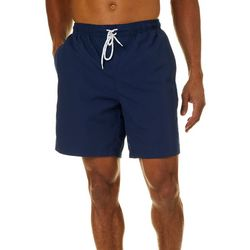 Boca Classics Mens Palm Frond Panel Swim Trunks