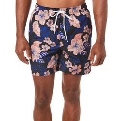 Boca Classics Mens Tropical Floral Swim Trunks