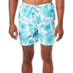 Boca Classics Mens Floral Print Swim Trunks