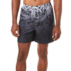 Boca Classics Mens Ombre Palm Frond Print Swim Trunks