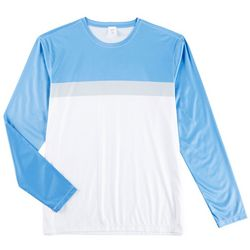 Boca Classics Mens Colorblock Long Sleeve Swim T-Shirt