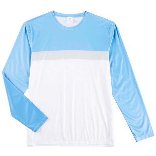 a3b6b91b08 Boca Classics Mens Colorblocked Long Sleeve Swim T-Shirt | Bealls Florida