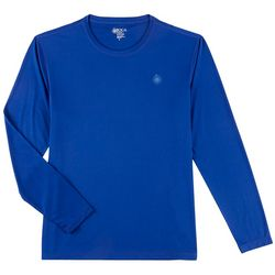 Boca Classics Mens Solid Long Sleeve Swim T-Shirt
