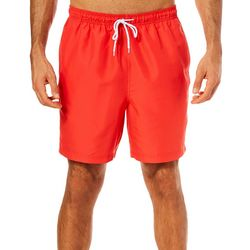 Boca Classics Mens Solid Drawstring Swim Trunks