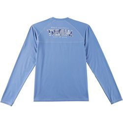 Boca Islandwear Mens Tropical Long Sleeve Swim T-Shirt
