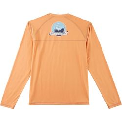 Boca Islandwear Mens Boat Long Sleeve Swim T-Shirt