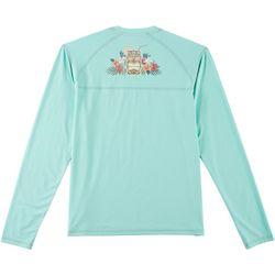 Boca Islandwear Mens Tiki Cup Long Sleeve Swim T-Shirt