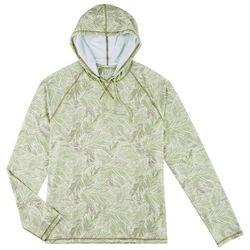 Boca Islandwear Mens Tropical Leaf Long Sleeve Swim Hoodie