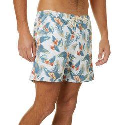 Boca Islandwear Mens Tropical Floral Swim Trunks