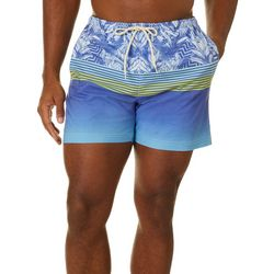 Boca Islandwear Mens Ombre & Stripe Swim Trunks