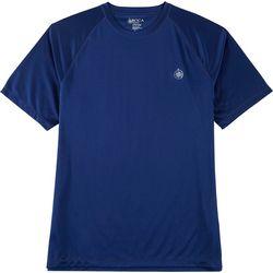 Boca Classics Mens Solid Raglan Swim T-Shirt