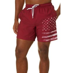 Boca Classics Mens Stars & Stripe Swim Trunks