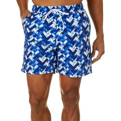 Boca Classics Mens Geometric Swim Trunks
