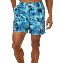 Boca Classics Mens Palm Fronds Swim Trunks