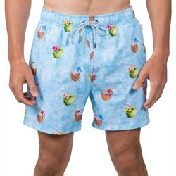 Vintage Summer Mens Coconuts Swim Shorts