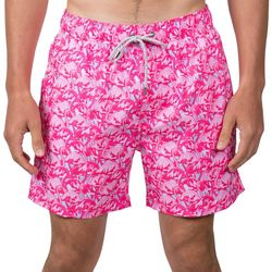 Vintage Summer Mens Flamingo Swim Shorts