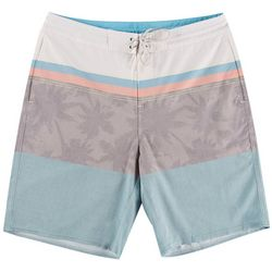 Burnside Mens Stripe Stretch Boardshorts