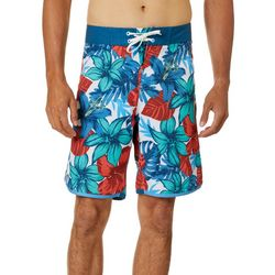 Burnside Mens Tropical Hibiscus Boardshorts