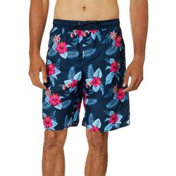 Burnside Mens Bounce Escape Hibiscus Boardshorts