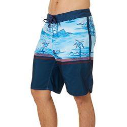 Burnside Mens Blue Hawaii Boardshorts