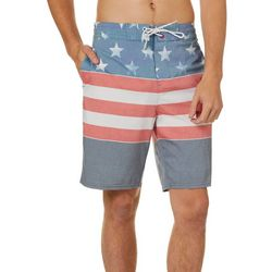 Burnside Mens Americana Print Boardshorts