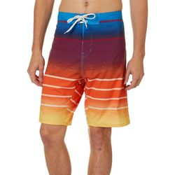 Burnside Mens Frequency Stripe Boardshorts