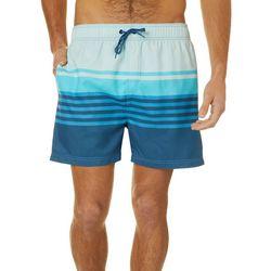 Burnside Mens Stripe Volley Shorts