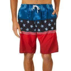 Burnside Mens Americana Stars & Stripe Boardshorts