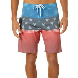 Burnside Mens America Stars & Stripe Boardshorts