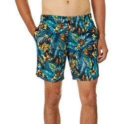 Distortion Mens Tropical Print Volleyball Shorts