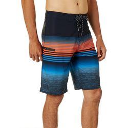 Distortion Mens Saltwater Engineered Stripe Boardshorts