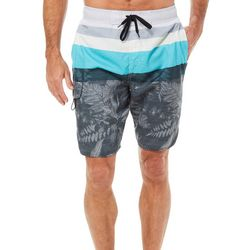 Newport Blue Mens Take Your Time Stripe Swim Trunks