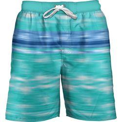 Newport Blue Mens Rip Tide Print Swim Trunks