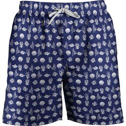 Newport Blue Mens Sea Print Swim Trunks