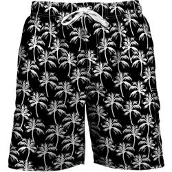 Newport Blue Mens Palm Print Swim Trunks