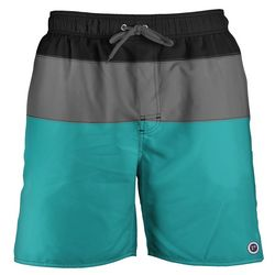 Newport Blue Mens Trifecta Stripe Swim Trunks