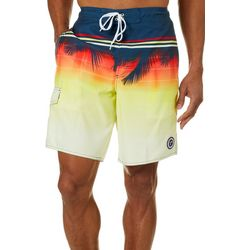 Newport Blue Mens Tropical Sunset Swim Trunks